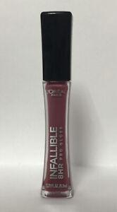 L'Oréal PARIS Infallible 8HR PRO Lip Gloss-705 SANGRIA-0.21oz.