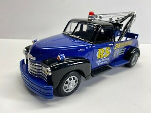 Welly 1:24 Scale 1953 Chevrolet Pickup Wrecker Blue Loose Clean Diecast No Res