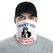 New Uncle Sam Type Saying Face Mask Neck Gaiter White One Size Free Shipping