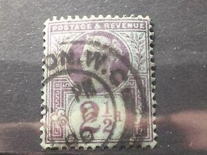 SCOTT #114 1887-92 GREAT BRITAIN STAMP 2 1/2p USED