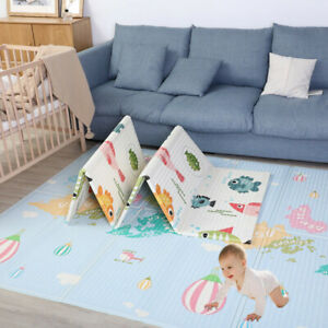 2 Side Cartoon Baby Mat Kid Crawling Play Pad Soft Foam Foldable Carpet Gift