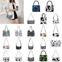 Casual Women Handbag Animal Pattern PU Underarm Shoulder Bag Messenger Totes LOT