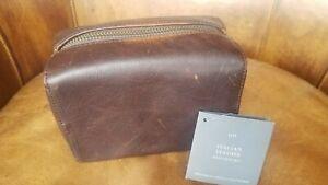 Restoration Hardware Italian Leather Shoe Shine Kit NWT $89. Fabulous!