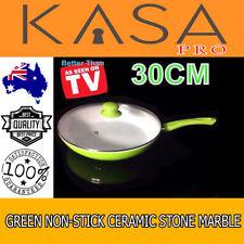 Green Non-Stick Ceramic Stone Marble Coated Genuine KASA Frypan Handle, Knob