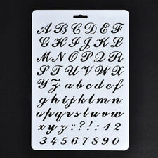 Lettering Stencils, Letter and Number Stencil, Painting Paper Craft Alphabe T2V4