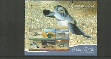 ASCENSION ISLAND 2015 NEW ISSUE GREEN TURTLES MINISHEET- MNH