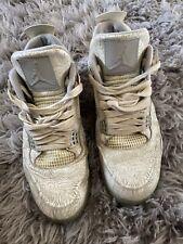 Air Jordan 4 Retro Laser 30th Anniversary705333-105 Men Size White Silver 3M