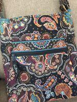 "Vera Bradley Kensington Crossbody Hipster Shoulder Bag 10""w X 11""L"