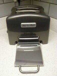 KitchenAid Artisan 2 Slice Toaster Grey 5KTT780BPM1+ Manual Excellent Condition