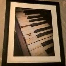 Framed photograph 'Old Piano Keys'