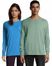 Hanes Adult Long Sleeve T Shirt Tee ComfortWash Garment Dyed Ring Spun Cotton