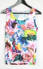 JIL SANDER by Raf Simons multicolor neon floral rose print tank top shirt S NEW