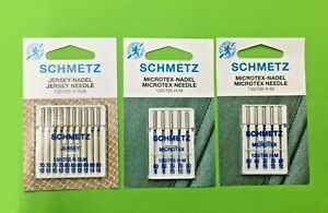 Schmetz Jersey- Microtex Nadel- Nähmaschinennadeln, Flachkolben Nadeln TOP