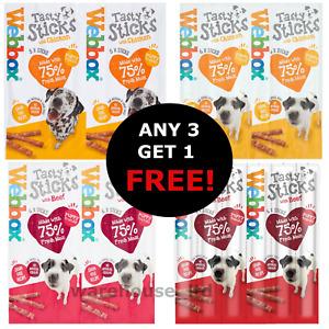 Webbox Delight Dog Treat Chew Sticks Chicken, Beef - BUY 3 GET 1 FREE!