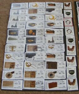 168 Used Eire 100 Object Stamps all on paper Set 4.