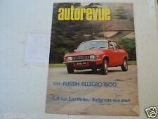 AUTOREVUE 1974-08 BENELLI 750 SEI SIX MOTO,AUSTIN ALLEGRO 1500,ASTON MARTIN DB 2