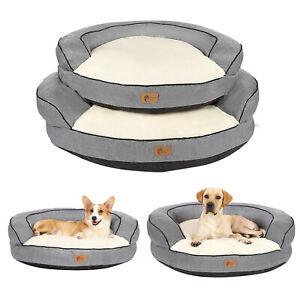 AcornPets® B16 Premium Ultimate Grey Donut Round Shape Extra Large Dog Sofa Bed