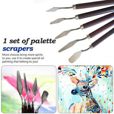 5PCS Set Stainless Palette Knife Scraper Spatula for Artist Oil Painting Knife