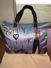 Coach Poppy New York Satin Shoulder Bag Tote 15888