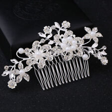 Wedding Hair Pins Comb Bridal Bride Clips Flower Crystal Accessories Pearls