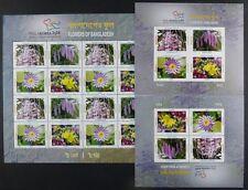 Bangladesch 2014 Blumen Flowers Blüten Blossoms Kleinbogen & Blocks A/B MNH