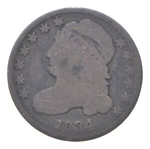 EARLY - 1834 - Capped Bust Dime - Eagle Reverse - TOUGH - US Type Coin *072