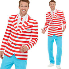Wheres Wally Suit 80s Costume Mens Fancy Dress