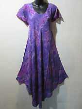 Dress Fits 1X 2X 3X Plus Purple Shades Tie Dye Sundress A Shaped Cotton NWT G800