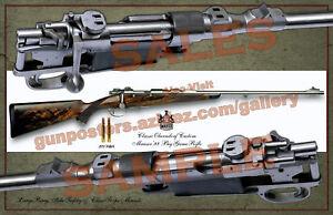 Mauser 98 Oberndorf Custom Bolt Action Rifle Poster 11 x 17