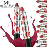 24 Color Cosmetic Lip Gloss Waterproof Long Lasting Velvet Matte Lipstick Pencil