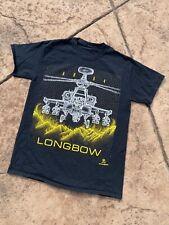 Helicopter T Shirt Medium Mens 2000s AH 64 Longbow Blackbird