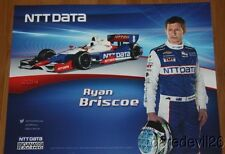 2014 Ryan Briscoe NTT Data Chevy Dallara Indy Car postcard