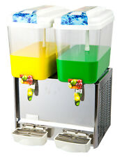 4.75 Gallon Dual  Fruit Juice / Beverage/ Ice Tea Dispenser
