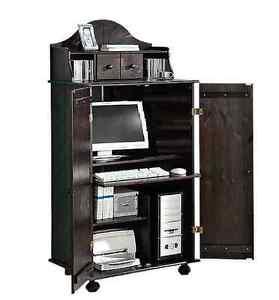 PC-Schrank aus massiver Kiefer Computerschrank Schreibtisch Schrank  NEU