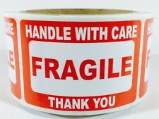 500 2 x 3 Fragile Handle with Care Label Sticker.Plus 15 Green Thank You EBAY