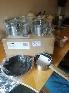 Schulte-Ufer Neff 4x Piece Pan Set Frying Pan, Pots Etc Stainless Steel In Box