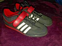 ADIDAS POWER-LIFT 2.0 WEIGHT-LIFTING SHOES MEN'S 9.5 ((WORN TWICE CLEAN)) Black