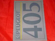 PEUGEOT 405 Limousine GLI GLD GRI GRD GRDT SRDT SRI MI 16 Prospekt von 1991