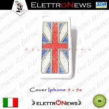 Cover Custodia Iphone 5 5s Rigido con Brillantini Su Sfondo Bianco Uk