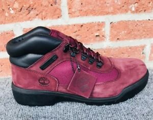 timberland Mens Field Boot. F/L WP BURGUNDY. Size 9