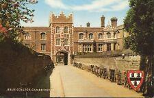Jesus College Cambridge England UK Vintage Postcard D2