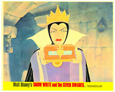 SNOW WHITE AND THE SEVEN DWARFS ORIGINAL WALT DISNEY LOBBY CARD EVIL QUEEN
