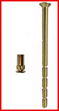 5mm M5 Patio UPVC External Door Handle Fixing Bolts Snap Connecting Screws Brass