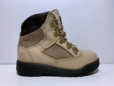 "Timberland Nubuck Leather & Mesh 6"" Field Boots Toddler Size US 10 EU 27 Beige"