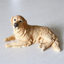 Golden Retriever Dog Pet Model Animal Figure Collector Decoration Toy Xmas Gift