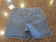 """LIZ CLAIBORNE Blue Denim Jean Shorts 10 New / Tags retail $44 NWT W 30 -32 L 6"""""""