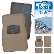 Beige Tan Carpet Floor Mats for Car Auto No-Slippage Interlock Technology Secure