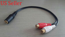 "STEREO RCA FEMALE TO 3.5MM MALE 1/8"" HEADPHONE CABLE"