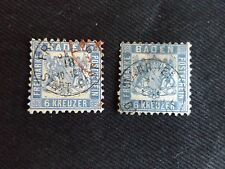 Germany States Baden 1862-65, PAIR OF 6 Kr STAMPS, USED