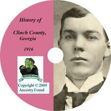 CLINCH County,Georgia GA - History Genealogy - Family Tree Ancestry CD DVD